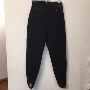 Obermeyer Sport Ski Pants Black Wool Blend Sz 10 L